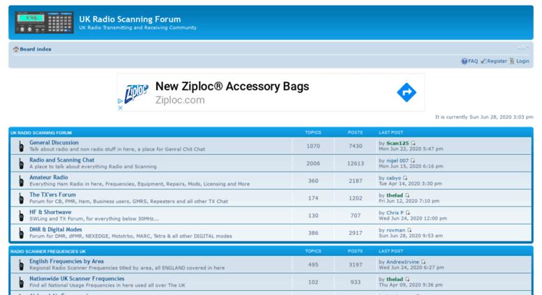 Access ukradioscanning com  UK Radio Scanning Forum • Index page