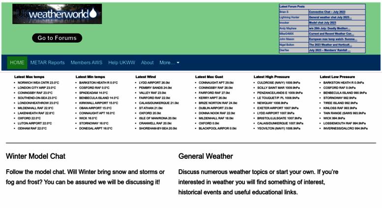 Access ukweatherworld co uk  UK Weatherworld - UK weather