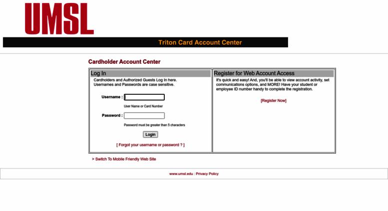 Access umsl campuscardcenter com  TritonCard