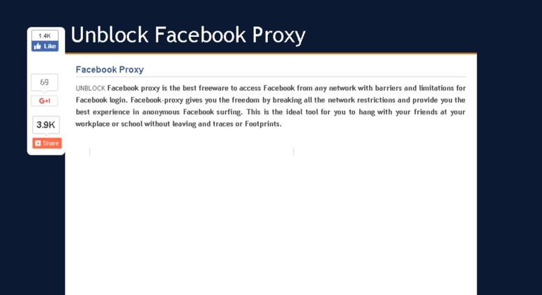 Access unblock-facebookproxy com  Facebook Proxy
