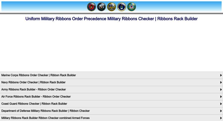 Access . Uniform Ribbons Military Ribbons