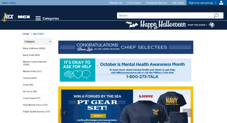 Access uniforms nexweb org  Navy Exchange Login