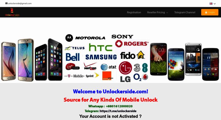 Access unlockerside com  Unlocker Side | iPhone Unlocking Best