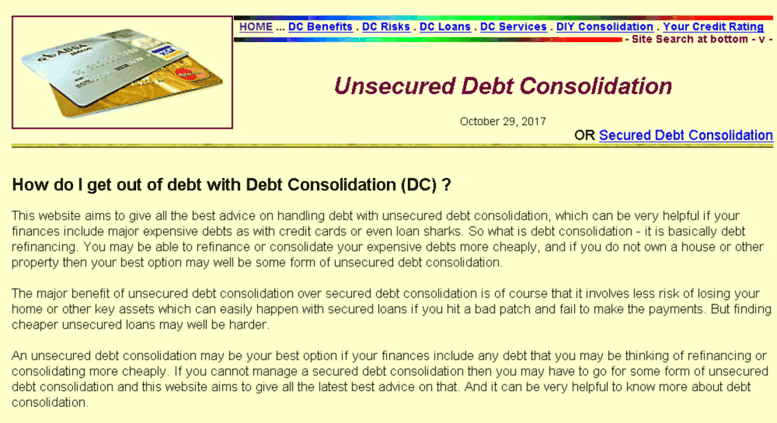 debt consolidation loans unsecured