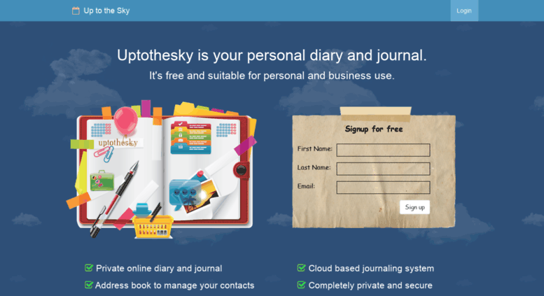 Access uptothesky com  Best free online diary, journal