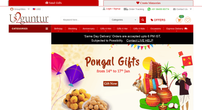Access us2ap.com. Gifts to India