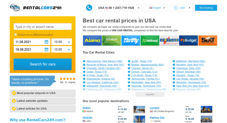 Car Rental Usa >> Access Usa Rentalcars24h Com Car Rentals Usa