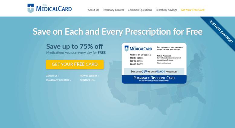 usamedicalcardcom screenshot