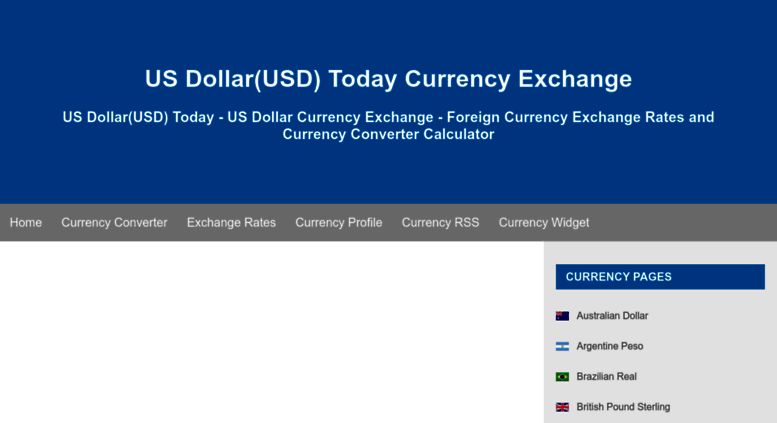 Usd Fx Exchange Us Dollar Today Currency Foreign Rates And Converter Calculator