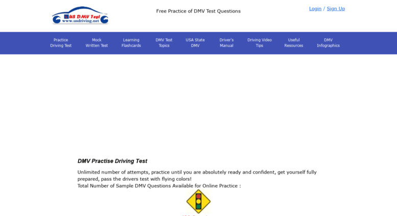 Access usdriving net  Practice Driving Test Sample Questions