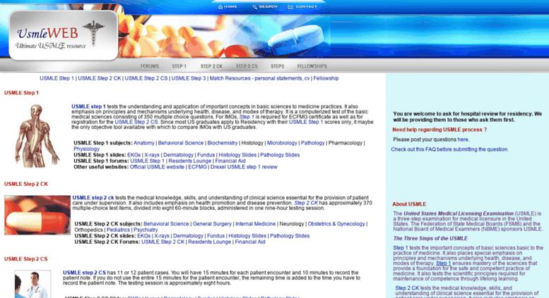 Access usmleweb com  usmle forum, usmle help, residency