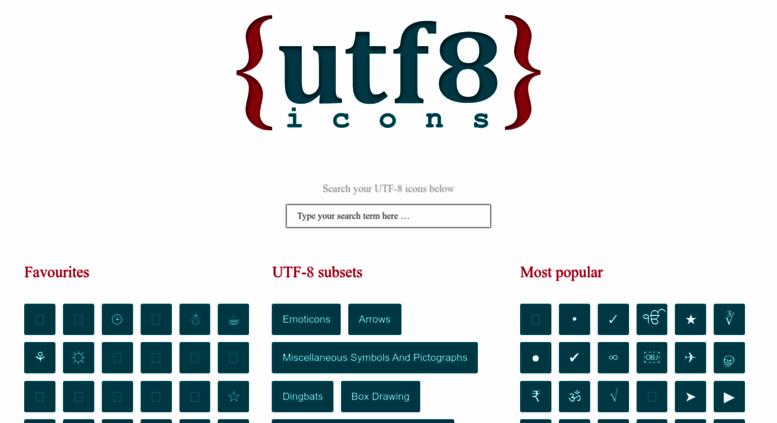 Access utf8icons com  UTF-8 Icons - Your no 1 source for UTF-8