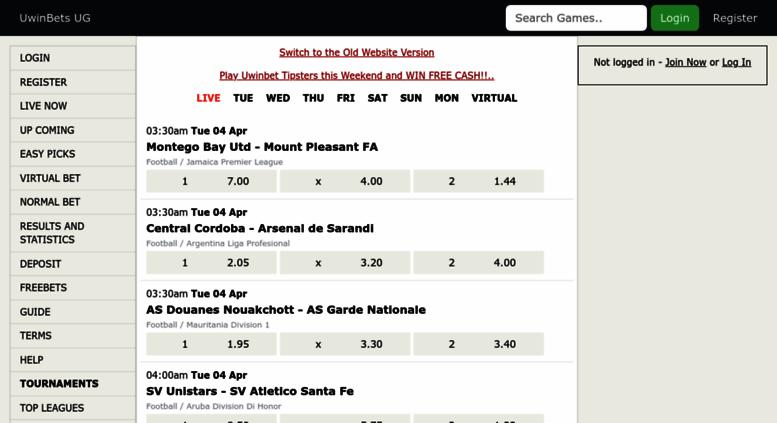 Uwin live betting betting layer