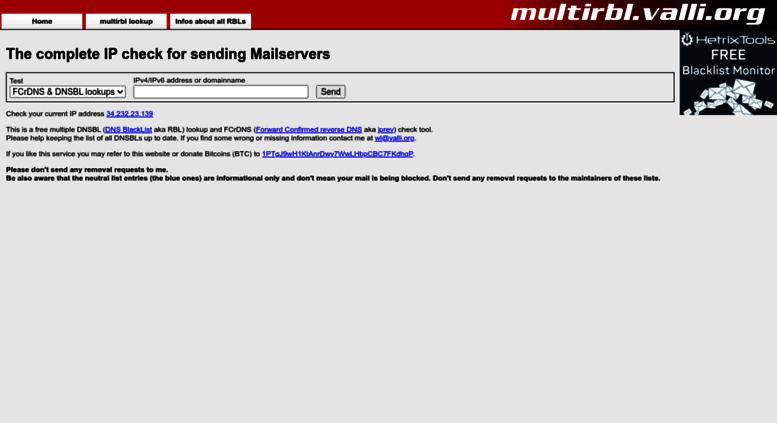 Access valli org  MultiRBL valli org - Blacklist, Whitelist and