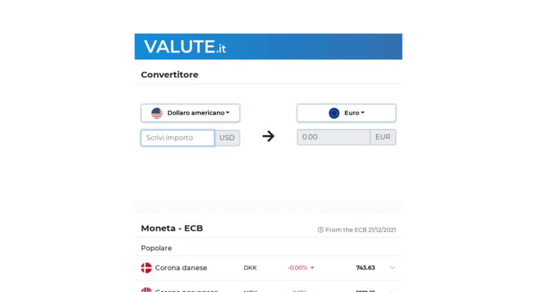 Valute It Screenshot