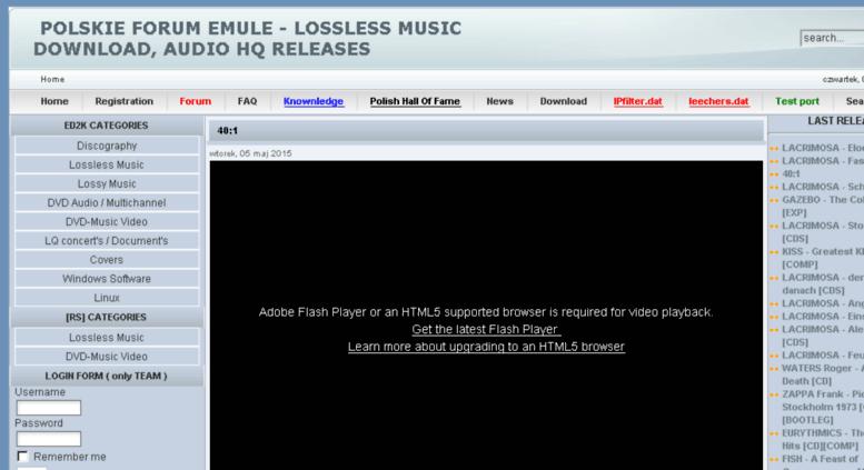 Access velvetundergroundforum com  Polskie Forum Emule
