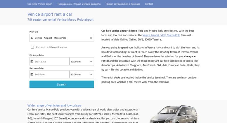 Access Venice Airport Rent Car Com 7 9 Seater Car Hire Venice