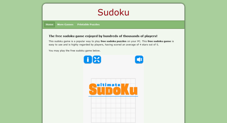 Access veryfreesudoku com  Free Sudoku Puzzles - A top game to download