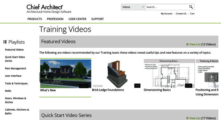 Access video chiefarchitect com  Chief Architect Training Videos