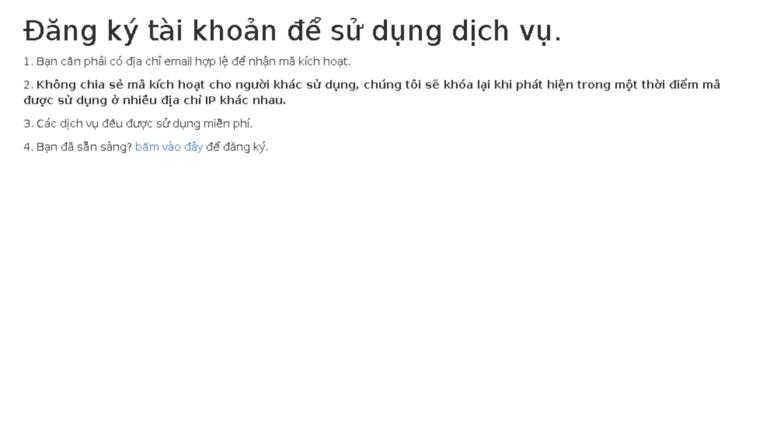 Access vietnam-livetv parseapp com  Đăng ký tài khoản