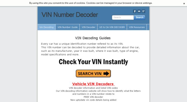 Access vin-number-decode com