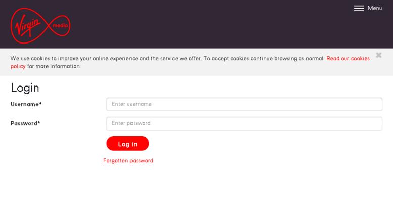 Access virginmediapartners com  Virgin Media Partners - Login