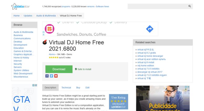 Access virtual-dj-home-edition-atomix-productions. Updatestar. Com.