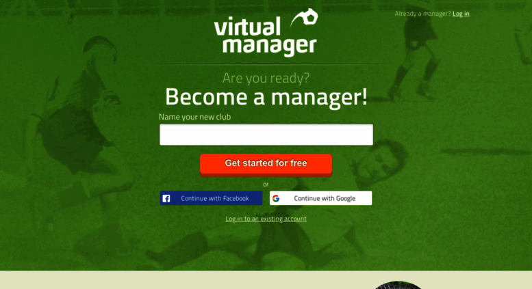 Access virtualmanager com  Virtual Manager - Online football manager