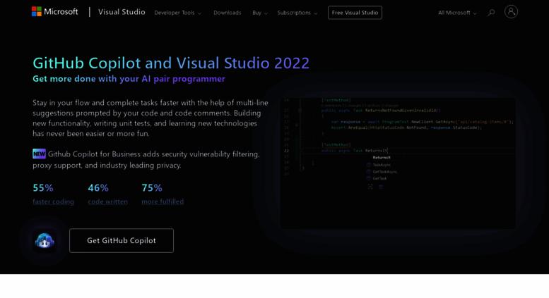 Access visualstudio com  Visual Studio IDE, Code Editor, Azure