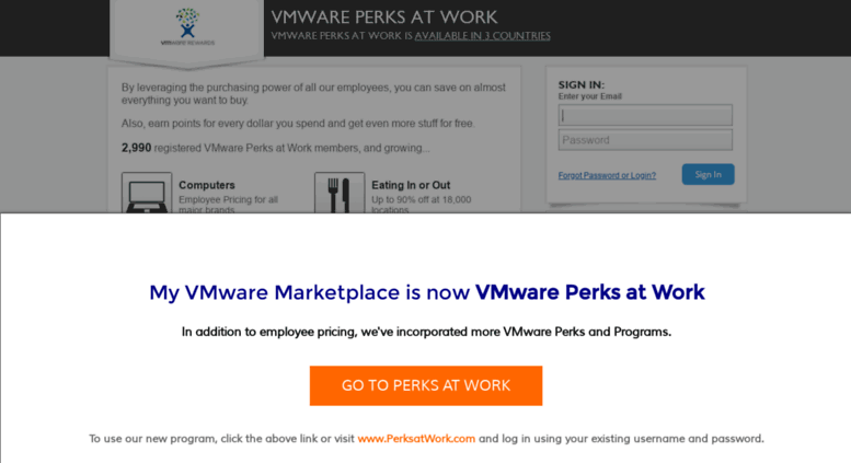 My Perks At Work >> Access Vmware Corporateperks Com Vmware Perks At Work