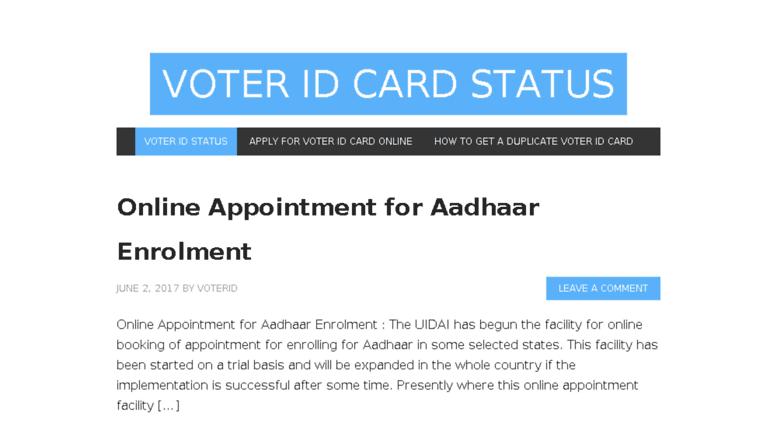 voter card status