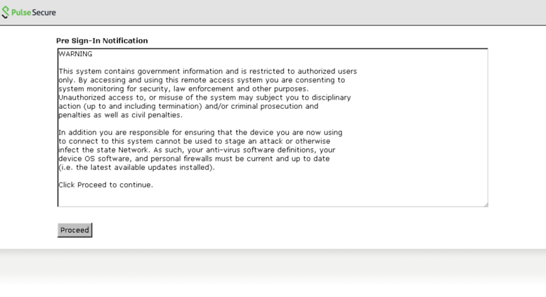 Access vpn mass gov  Pulse Connect Secure - Sign-In Notification