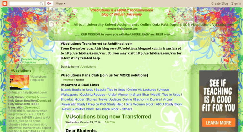 Access vusolutions blogspot com  Virtual University Solved
