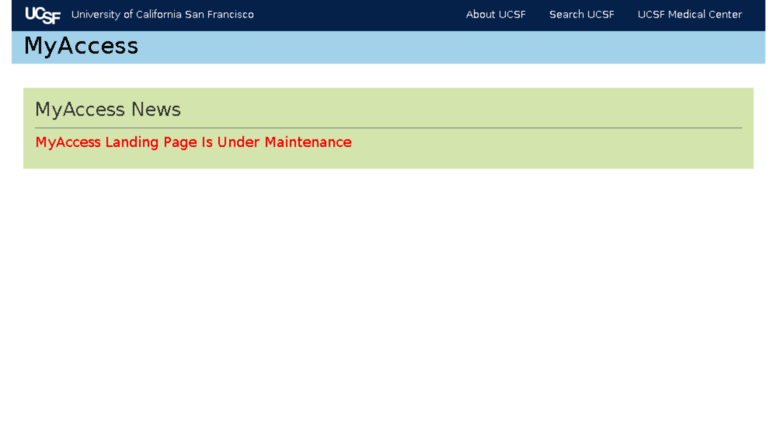 Access vx70 ucsf edu  UCSF MyAccess: Welcome