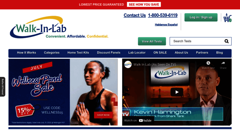 Access walkinlab com  Order Any Lab Test or Blood Tests