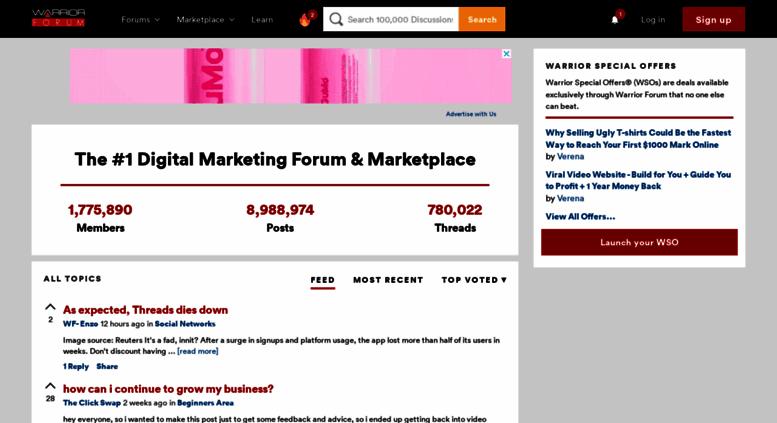Access warriorforum com  Warrior Forum - The #1 Digital Marketing