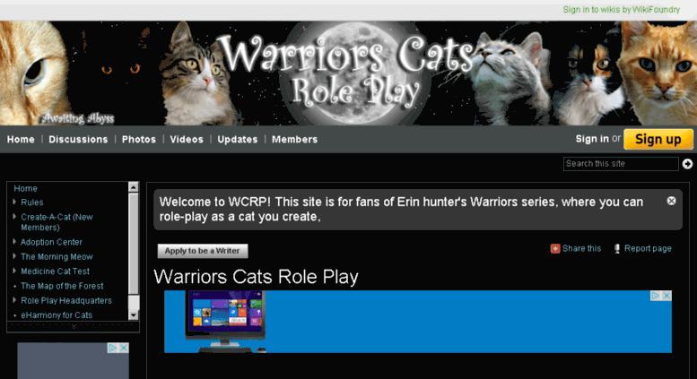 Access warriorscatsroleplay wikifoundry com  Warriors Cats