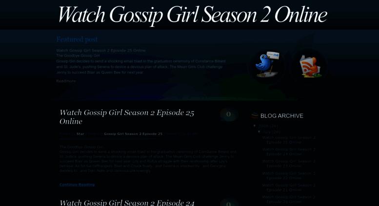 Watch gossip girl season 3 episode 12 online free breaking news.