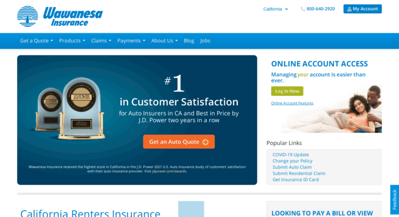 Wawanesa Car Insurance >> Access Wawanesaus Com California Car Homeowners Renters
