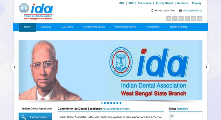 Access wbida org  Indian Dental Association - West Bengal