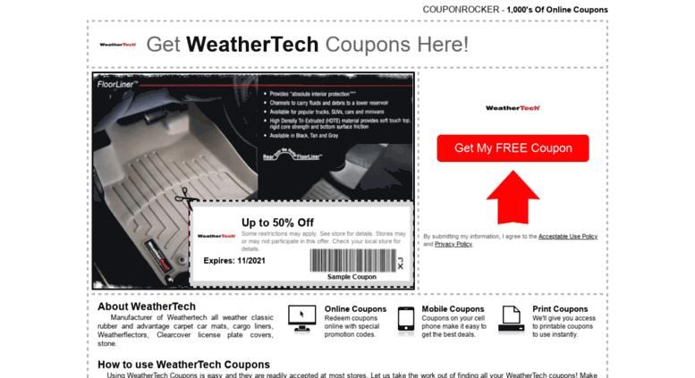 Weathertech Com Coupon >> Access Weathertech Couponrocker Com Weathertech Coupons