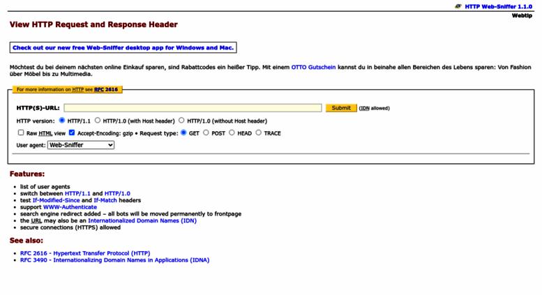 web sniffer free