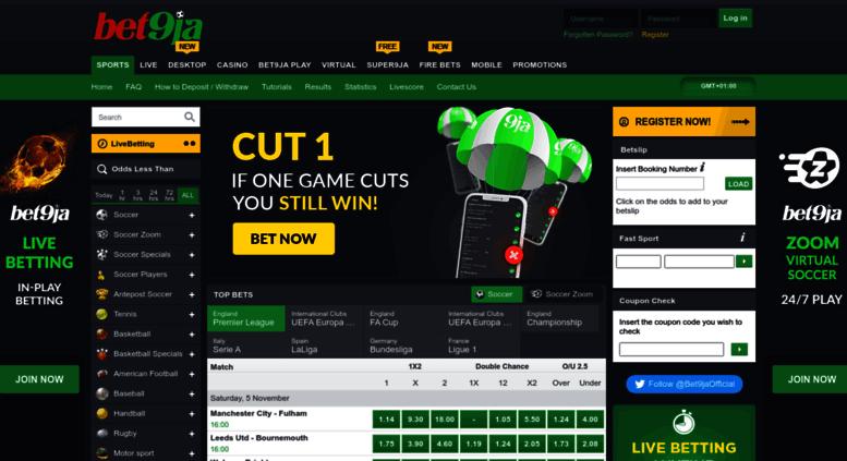 Bet9ja nigeria sport betting premier league odds casino bet ante post betting ladbrokes football