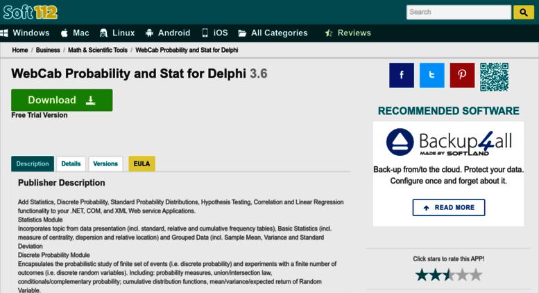 Access webcab-probability-and-stat-for-delphi soft112 com  WebCab