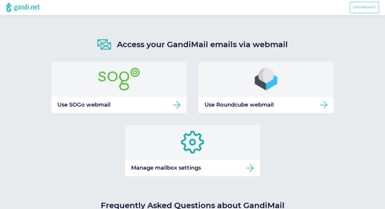 Access webmail gandi net  Webmail - Your Gandi Mail with Sogo and