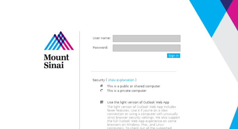 Access webmail mountsinai org  kb1012367 | Academic IT Security