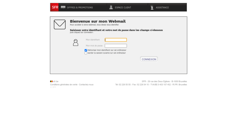 Webmail numericable
