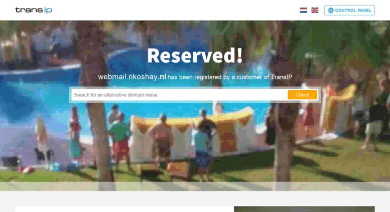 access webmail.rikoshay.nl. transip - reserved domain