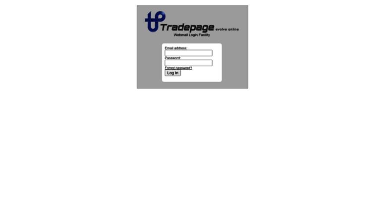 Access webmail tradepage co za  Tradepage Webmail - Login