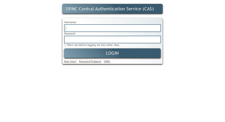 Access Webmail Upmc Fr Cas Central Authentication Service Of Upmc